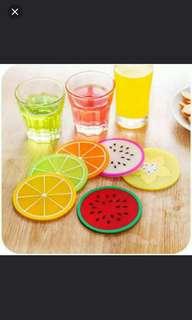 可愛水果杯墊一套6個