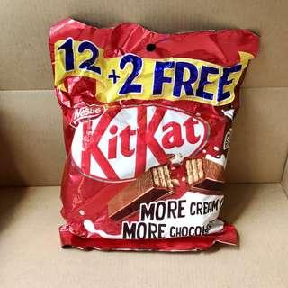 kitkat 小包裝巧克力(12+2)