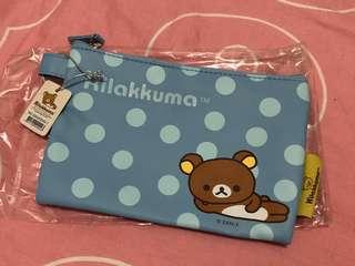 鬆弛熊 化妝袋  拉鍊袋  包郵Rilakkuma cosmetic bag small pouch