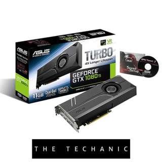 ASUS TURBO GEFORCE GTX 1080 TI 11GB GDDR5X GRAPHICS CARD