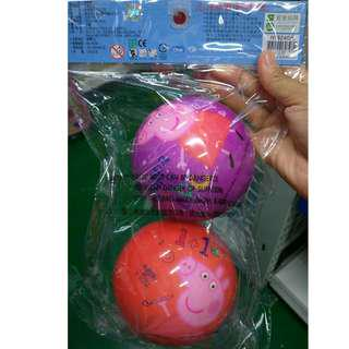 ⛔獨立出貨 佩佩豬 粉紅豬小妹 彈彈球 安全軟球 玩球 安全玩具
