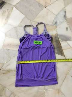 Nb sportwear with non padded sport bra size S no 6445