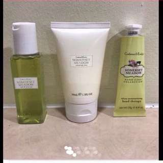 Authentic Crabtree & Evelyn Somerset Meadow Travel Set (Brand New)