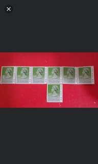 (7張) 10c香港郵票(英女皇頭像)