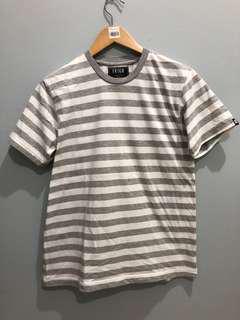 Baju stripes putih abu-abu