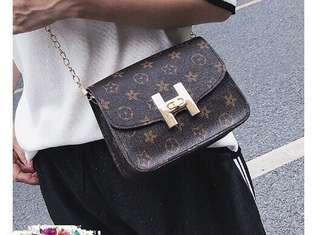 Lv Inspired Flower H Sling Chain Bag