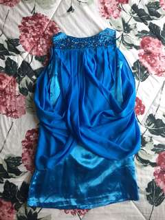 #maudecay Preloved Blue Party Dress