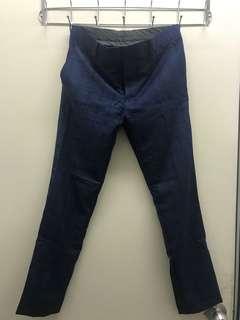 Topman navy checked pants