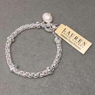 Ralph Lauren Sample Bracelets 銀色珍珠手鍊 全長21 cm