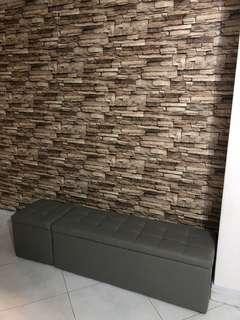 Bench with storage 120x40x40