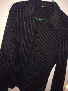 Kameja stripe black long