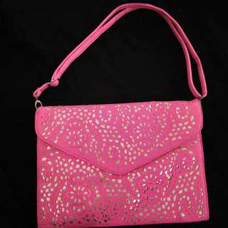 Clutch Pink Neon Envelope