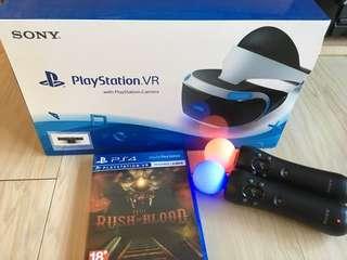 PlayStation VR + Cam + motion control + Until Dawn