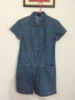 Gap denim button down dress #july70 #subangjayaswap