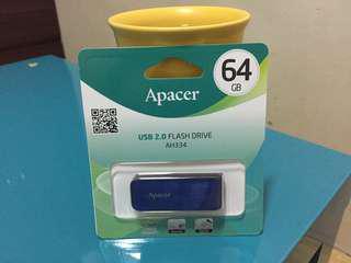 Apacer宇瞻 AH334 64GB 2.0 銀河特快車 隨身碟-星空藍