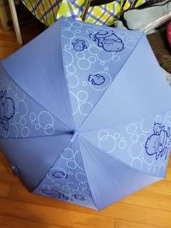 Pekkle AP鴨 粉藍色 防UV 長柄雨傘