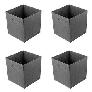 Black Non-woven Foldable Storage Cube