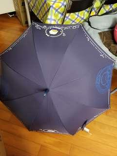 Pekkle AP鴨 深藍色防UV長柄雨傘
