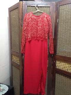 Long dress kutung bahan siffon