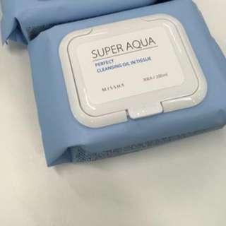 MISSHA Super Aqua Perfect Cleansing Oil In Tissue - Renew #maudecay