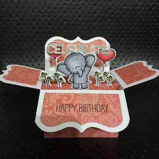 Handmade birthday box card