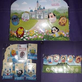 Disney Pin 迪士尼襟章 Pin Pins 襟章 花蛋 Easter Pin