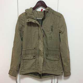 H&M 軍綠色軍裝外套 34號