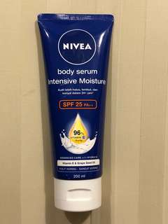 BN unused 200ml tube of Nivea Body serum intensive moisture SPF 25++