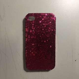 Iphone 4/4s pink glitter case