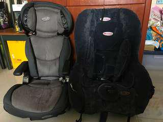 2 Car Booster Seats (Baby/Toddler/Child)