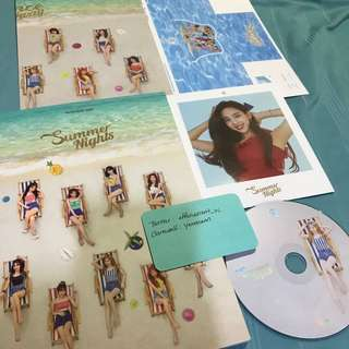 Twice Summer Nights DTNA Official Album Nayeon Dahyun Set