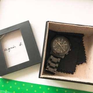 可調較 Agnes B Watch 手錶  黑鋼錶 agnis b 女裝 girls