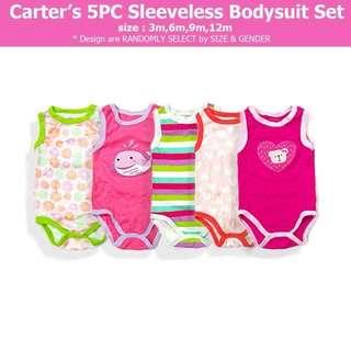 5-pc Sleeveless Bodysuit Set