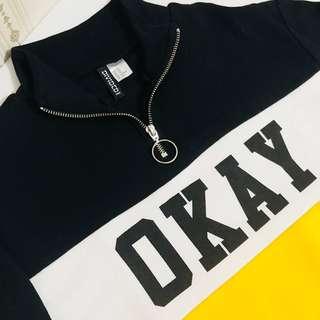 H&M Okay Sweatshirt Hoodie HnM
