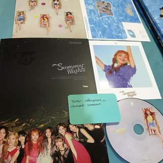 Twice Summer Nights DTNA Official Album Chaeyoung Set