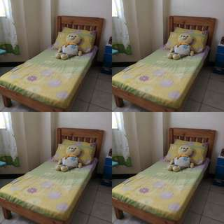 Customized Kiddie Bed with headboard