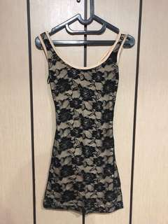 Lace Cross Back Dress