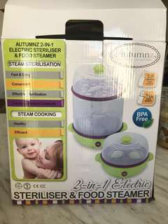 PRICE REDUCED! Autumnz Sterilizer and Food Steamer