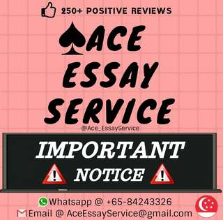 Attention ⛔                                                          Essay Assignment