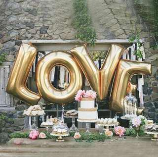 LOVE 32inch foil balloons (Gold/Silver)