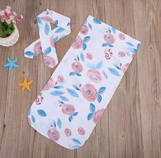 Cotton Floral Baby Swaddle