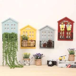 Zakka farmhouse style Wooden mini house w single self