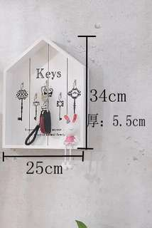Zakka farmhouse style wooden key board