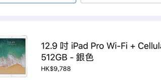 全新iPad pro 12.9 512 G