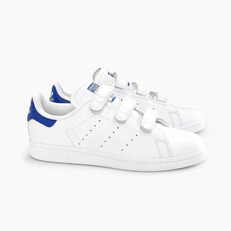 new products ce899 20f24 Adidas Stan Smith Velcro blue, Women's Fashion, Shoes ...