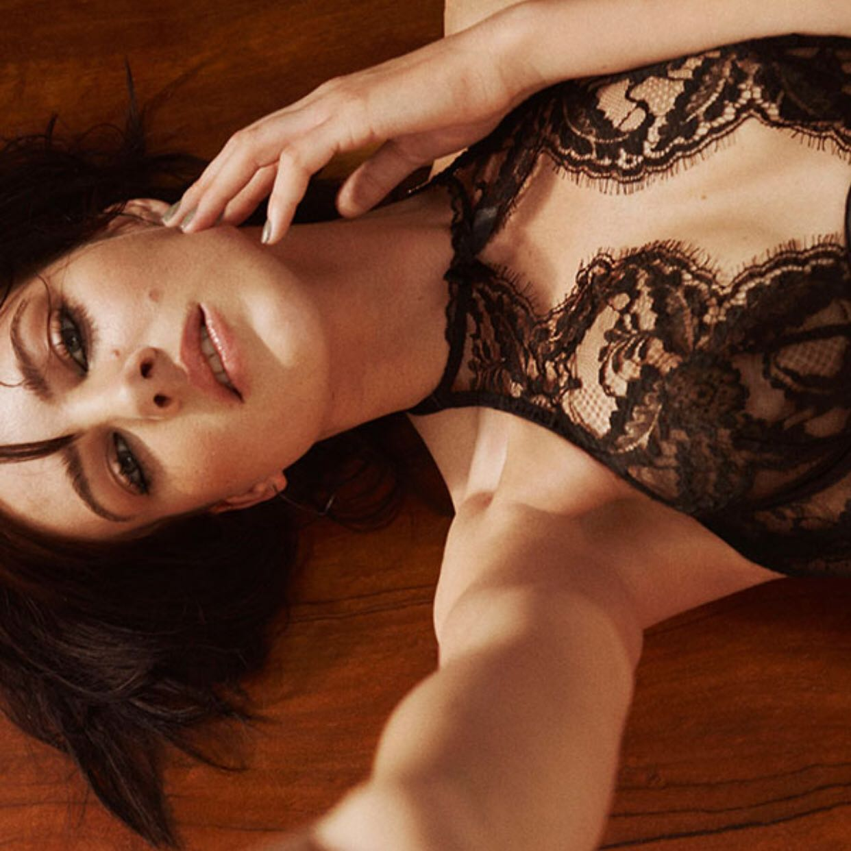 5e34352236 Agent Provocateur Lace Bralette and Panty Set in Black