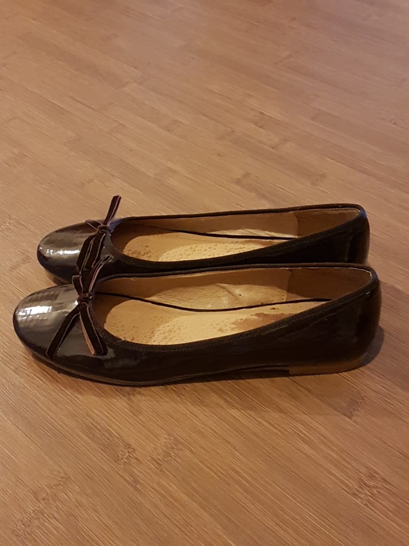 78e4f2b71e2 Aldo Brown Patent Leather Ballet Pumps