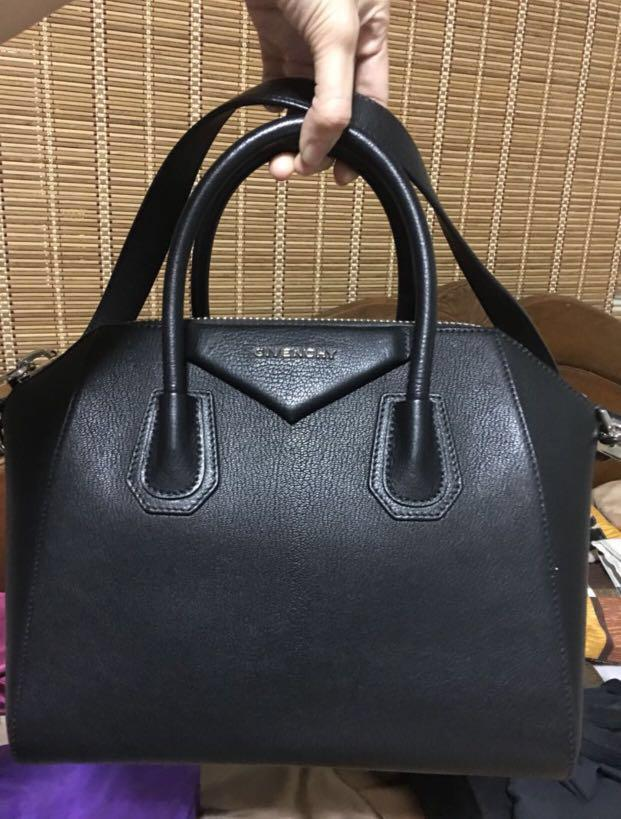 bf7cd147a6 Authentic givenchy antigona small black pebbled goat skin leather on  Carousell