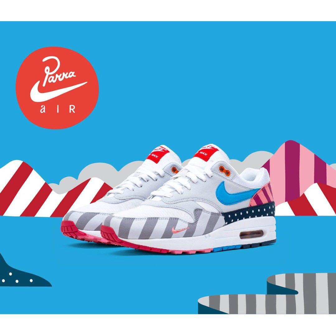 f2fe32a3ebe09e Authentic Nike x Parra Air Max 1