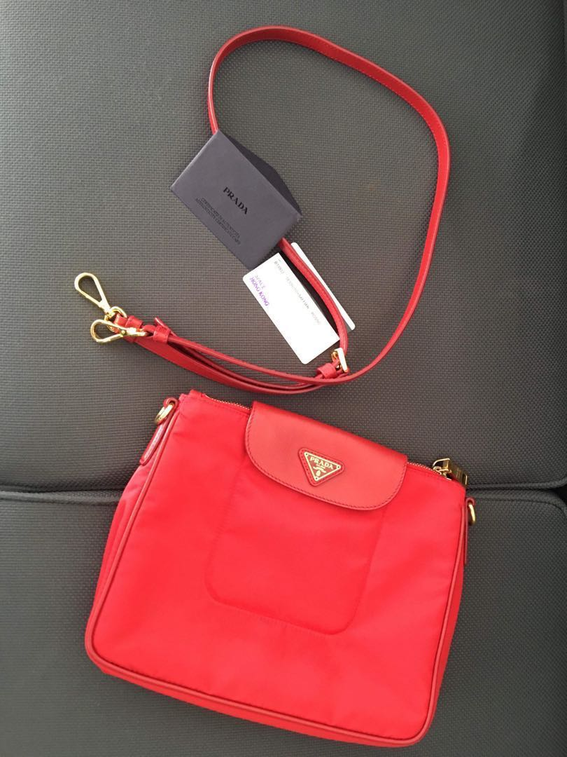 b343bc7c50 Authentic PRADA sling bag SAFFIANO LEATHER